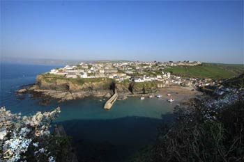 Port Isaac Harbour - The view from the top of Roscarrock Hill